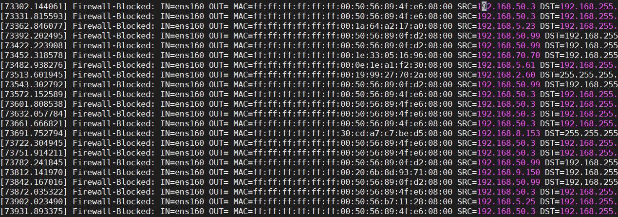 Loggare traffico bloccato da IPTABLES in Linux